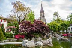 Japanträdgård - Interlake Schweiz Royaltyfri Bild