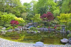 Japanträdgård, London arkivbild