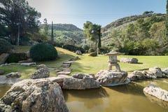 Japanträdgård på kibbutzer Hephzibah Arkivfoton