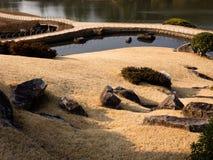 Japanträdgårddetaljer Arkivbild