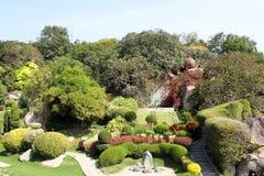 Japanträdgården i Ramoji filmar staden Arkivfoto