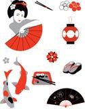 Japanuppsättning Royaltyfri Bild