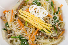 Japchae Royalty Free Stock Photography