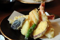 japenese tempura Arkivfoto