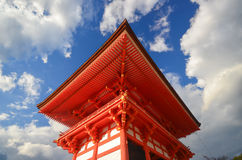 Japnese building in Kiyomizu temple at Kyoto, Japan Stock Photo
