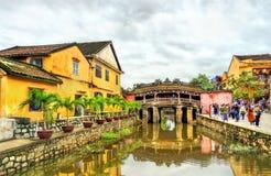 Japończyk Zakrywający most w Hoi, Wietnam obraz stock