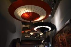 Japońscy parasole w centrum handlowym zdjęcie stock