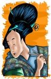 japończycy dziewczyna ilustracja wektor