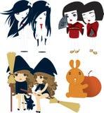 japończycy halloween. royalty ilustracja