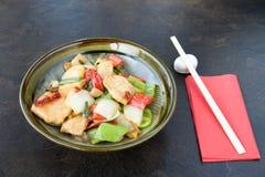 japończycy jedzenia kurczaków zdjęcie royalty free