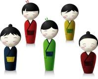 Japończycy lali kreskówki royalty ilustracja