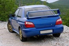 japończycy niebieski samochód zdjęcia stock