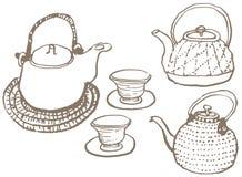 japończycy postawił herbaty royalty ilustracja
