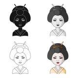 japończycy Rasy ludzkiej pojedyncza ikona w kreskówka stylu symbolu zapasu ilustraci wektorowej sieci ilustracji