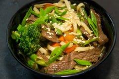 Japończyk lub owoce morza posiłek Koreański, Tajlandzki lub Chiński kluski Zdjęcia Stock
