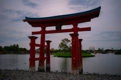 Japończyka łuk w Epcot przy Walt Disney World zdjęcia stock