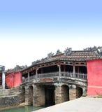 Japończyka Cau Chua Bridżowa pagoda w Hoi, Wietnam Fotografia Stock