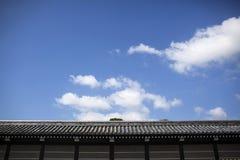 Japończyka kasztelu ściana zdjęcia royalty free