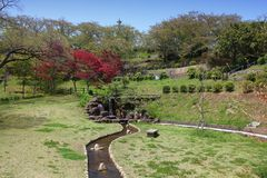 Japończyka ogród, Himeji zdjęcia stock