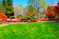 Japończyka ogród w punktu nieposłuszeństwa parku Tacoma, WA obraz royalty free