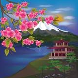 japończyka piękny krajobraz Zdjęcie Royalty Free