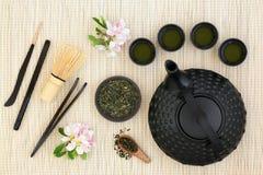 Japończyka Sencha Herbaciana ceremonia fotografia royalty free