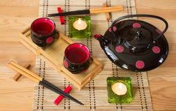 Japończyka wciąż życie z świeczkami Fotografia Stock