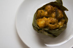 Japońscy codfish w bananowych liściach Fotografia Royalty Free