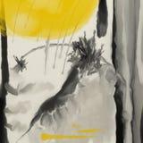 Japońska atrament abstrakcja Obraz Royalty Free