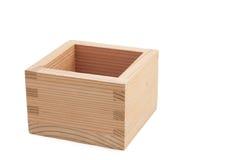 Japońska drewniana filiżanka nazwany Masu zdjęcie royalty free