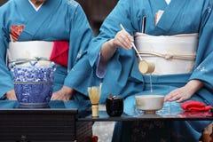 Japońska herbaciana ceremonia zdjęcia royalty free