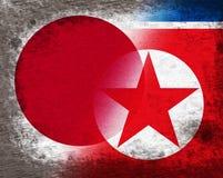 Japońska I Północno-koreańska porozumienia pokojowego 3d ilustracja ilustracji