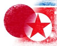 Japońska I Północno-koreańska rozmów pokojowych 3d ilustracja royalty ilustracja