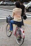 japońska kierują rowerów kobieta Fotografia Stock