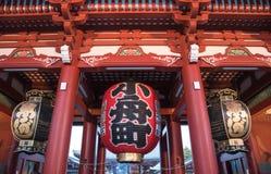Japońska lampa w bramie Asakusa świątynia w Tokio, Japonia Obraz Stock
