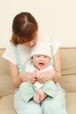Japońska mama i jej dziecko Fotografia Royalty Free