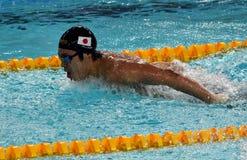 Japońska pływaczka Masato Sakai Zdjęcie Stock
