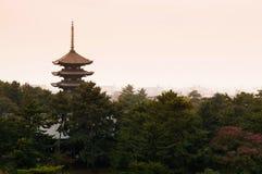 Japońska pagoda, Toji pagoda w Nara fotografia royalty free