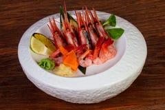Japońska sashimi krewetka zdjęcie royalty free