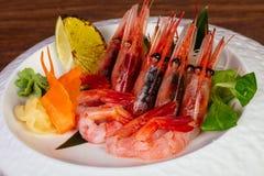 Japońska sashimi krewetka obrazy royalty free
