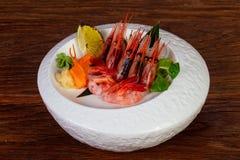 Japońska sashimi krewetka obraz royalty free