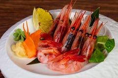 Japońska sashimi krewetka fotografia stock