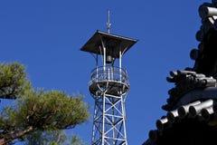 Japońska stara wieża obserwacyjna Fotografia Stock