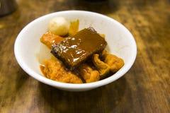 Japońska tradycyjna kuchnia, oden tempura, cukierki gorący obrazy royalty free