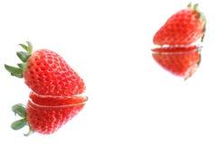 Japońska truskawka na białej wody tle Zdjęcia Stock