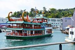 Japońska wycieczki turysycznej łódź zdjęcie royalty free