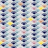 Japoński Śliczny Falowy wzór ilustracja wektor