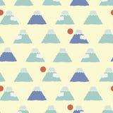 Japoński Śliczny Fuji góry wzór royalty ilustracja