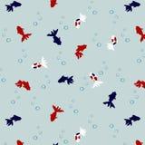 Japoński Śliczny Goldfish wzór ilustracji