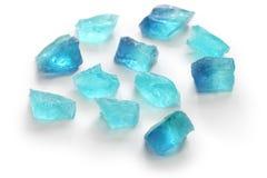 Japoński agar galarety cukierki, nowy błękit Zdjęcie Stock